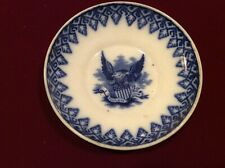 Antique Hammersley Cup And Plate Set With American Eagle