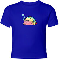 Nintendo Super Star Kirby Sleep Men Women Video Game Crew Neck Unisex T-Shirt