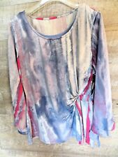 NWT Womens long sleeve top size M Miraclesuit Shirt 2 pc Cami Blouse Shapewear