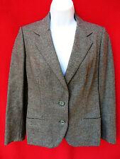 "PAUL STUART New York Womens Gray Plaid Wool Blazer Suit Jacket Chest 32"""