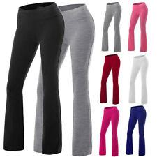 Женские брюки для йоги расклешенные тренажерный зал запуска бегуна леггинсы расклешенные брюки широкого покроя L ^ Dm
