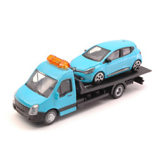 RENAULT CLIO + FLATBED TRANSPORTER 1:43 Burago Auto Stradali Die Cast Modellino