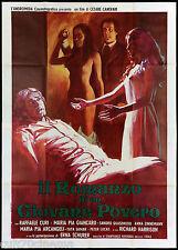 IL ROMANZO DI UN GIOVANE POVERO MANIFESTO CINEMA FILM 1974 SEXY MOVIE POSTER 4F