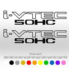 "9"" IVTEC SOHC VTEC Window Car Honda Civic EG EK B16 CRX Vinyl Decal sticker"