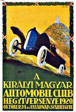 Királyi Magyar Automobil Club Deco Cars Auto  Art Poster Print