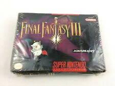 Super Nintendo (SNES) Final Fantasy III (3) Very RARE - NEW/ SEALED, Damaged Box