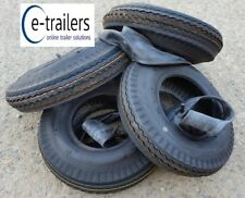 FOUR 400x8 6 Ply High Speed Road Trailer Tyres + inner tubes  superb quality