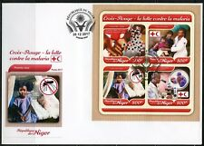 NIGER 2017  RED CROSS BATTLE AGAINST MALARIA SHEET FIRST DAY COVER