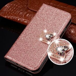 Bling Glitter Flip Leather Wallet Phone Case Cover For Samsung A71 S20 S9 S8 A51