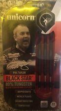 Phil Taylor Unicorn Black Star 22g Tungsten Darts