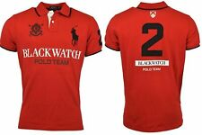 Polo Ralph Lauren Men's Red S/S Blackwatch Mesh Polo Shirt