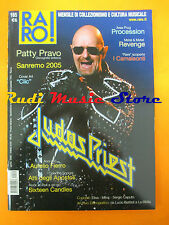 rivista RARO 165/2005 Judas Priest Patty Pravo Procession Revenge  No cd