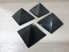 shungite polished pyramid 40mm 4 PCs, Karelia,Russia