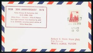 Mayfairstamps CANADA FIRST FLIGHT 1978 COVER ATLIN BC TO WHITE HORSE YUKON wwm18