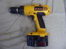"DeWalt DW990 Cordless 1/2"" Chuck Clutch Drill Driver w/D9091 Battery Pack -Works"