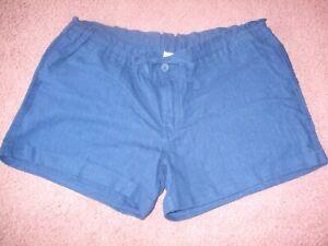 Womens Old Navy Royal Blue Linen Blend Short Shorts 10