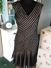 Black Mesh Evening Dress Size 10