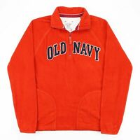 Vintage OLD NAVY  Orange American 1/4 Zip Jumper Mens S