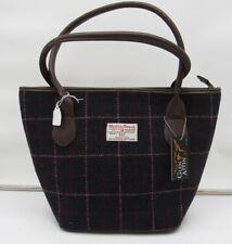 Harris Tweed Handbag bucket/shopper bag purple/pink NEW BIR111NS