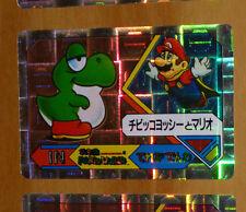 SUPER MARIO WORLD BANPRESTO CARDDASS CARD PRISM CARTE N° 8 NITENDO JAPAN 1992 **