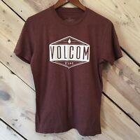 Volcom Men's Small/Petite Tee T-Shirt Red Logo Short Sleeve Top