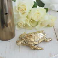 Brass Decor Rustic Turtle Small Hamptons Coastal Home Decor