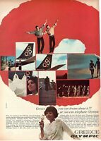 1968 Original Advertising' Vintage Olympic Airways Airlines Greece