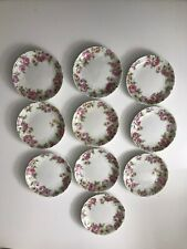 TEN C.H. Field Haviland Limoges GDA Butter Pats Pink Roses