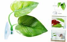 SLSON Betta Fish Leaf Pad Betta Hammock Toys Plastic Aquarium Plants with Suctio