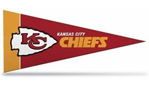 "New NFL Kansas City Chiefs Mini Pennant  9""x4"" Felt, Made in USA (PACK of 8)"