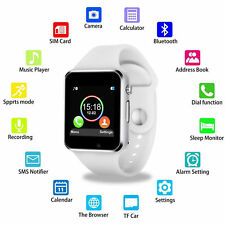 Bluetooth multi-functional sports smart wrist-watch White iOS/Android phone
