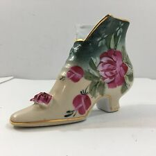 Formalities By Baum Bros Hand-painted Vintage Porcelain Shoe