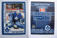 2015 SCA Drew Macintyre Toronto Maple Leafs goalie never issued produced #d/10