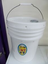 Opif-1 Food Grade-5 Gallon-Industrial Bucket-Gasket Cover-*Spout-Bpa Free