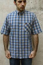 MARLBORO CLASSICS Uomo Camicia Casual Tartan Verificato Cotone Maniche Corte M
