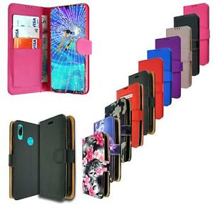 For Huawei Honor 10 Lite HRY-LX2 Leather Book Wallet Phone Case + Tempered Glass