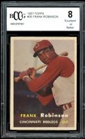 1957 Topps #35 Frank Robinson Rookie Card BGS BCCG 8 Excellent+