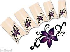 Nail Art Wasser Tattoo Aufkleber für Nageldesign BLE1838 Blumen Ornamente