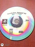 Sony PlayStation 1 PS1 Disc Only  Need for Speed Hot Pursuit III GH
