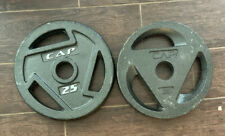 """CAP 25lb x2.   2"""" Barbell Weight Plates (50 LBS Total) FREE SHIPPING"""