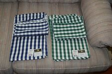 New matching set of napkins and placemats with tags Green/ Black Set of 2 each