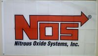 NOS Banner Nitrous Oxide System 3x5 Ft Flag Garage Wall Decor Drag Racing NHRA