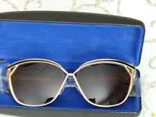Rebecca Minkoff Varick Butterfly Sunglasses,Gold & Black Frame/Brown Lens New