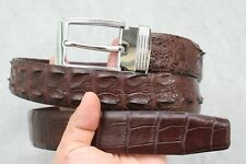 Brown Genuine Alligator Crocodile Leather SKIN MEN'S Belt - Without Jointed