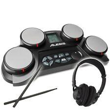 Alesis CompactKit 4 Electronic Drum Kit Pad Drum Machine with Headphones