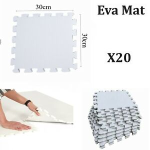 X20 Eva Mat Extra Thick Soft Foam Interlocking Flooring Floor Gym Yoga Workout