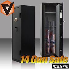 Premium Fire Resistant 14 Rifle Gun Safe Steel Cabinet Fireproof Dial L Handle