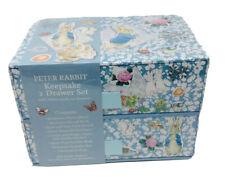 Beatrix Potter Peter Rabbit Keepsake Baby Record Storage Box 2 Drawers