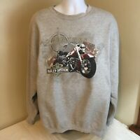 Harley Davidson Mens Sweatshirt Gray Crewneck XL Williamport MD Dealer Free Ship