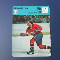 GUY LAFLEUR   MONTREAL CANADIENS  1979 Sportscaster  #1356  FINNISH variation